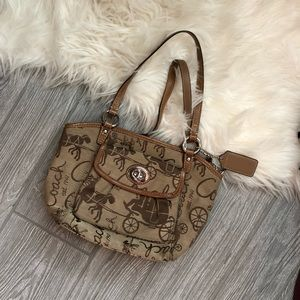 Coach Signature Brown Horse And Carriage